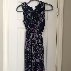 Maternity dress- navy blue and lilac size small